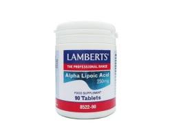 Lamberts Alpha Lipoic Acid 300mg 90 tabs, Συμπλήρωμα Διατροφής που δρα ως ένα πανίσχυρο αντιοξειδωτικό καθώς και του ρόλου του στην παραγωγή ενέργειας.