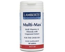 Lamberts Multi-Max Υψηλής Δραστικότητας Πολυβιταμίνη για Άτομα 50+ Ετών ,60 Tablets