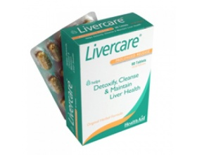 Healthaid Livercare Φυτικός συνδυασμός με αμινοξέα για αποτοξίνωση του συκωτιού 60 ταμπλέτες