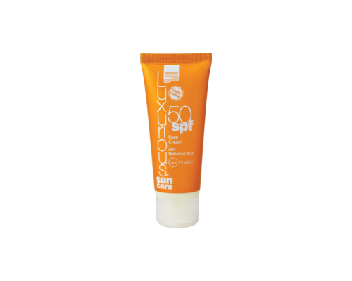 Intermed Luxurious Sun Care Face Cream SPF50 Αντηλιακή Προσώπου, 75 ml : με Υαλουρονικό Οξύ, Αντιηλιακή Κρέμα Προσώπου πολύ Υψηλής Προστασίας & Ταυτόχρονης Ανάπλασης