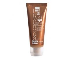 Intermed Luxurious Sun Care Silk Cover BB SPF 50 Αντηλιακή Προσώπου με Χρώμα, Σκούρα Απόχρωση, 75 ml : Καινοτόμα, Έγχρωμη Αντιηλιακή Κρέμα Προσώπου πολύ Υψηλής Προστασίας & Ταυτόχρονης Ανάπλασης, με ήπια Καλυπτική Δράση