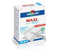 Master Aid Maxi Stretch Αυτοκόλλητο Ρολλό σε Λευκό χρώμα 50 x 8cm
