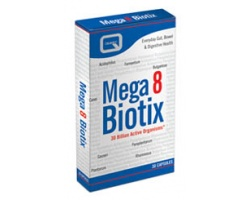 QUEST  MEGA 8 BIOTIX providing 30 billion probiotic bacteria Συμπλήρωμα διατροφής με 8 διαφορετικά προβιοτικά 30 κάψουλες