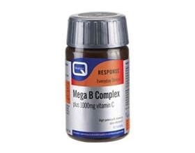QUEST MEGA-B COMPLEX  Σύμπλεγμα βιταμινών B και βιταμίνη C 30 ταμπλέτες