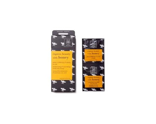 APIVITA Express Beauty Μάσκα Ενυδάτωσης & Τροφής με μέλι 2*8ml