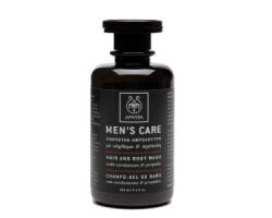 APIVITA Men's Care Σαμπουάν - Αφρόλουτρο για άντρες με κάρδαμο & πρόπολη 250ml