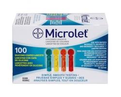 BAYER  Microlet Lancets - Χρωματιστές βελόνες 100 τεμάχια