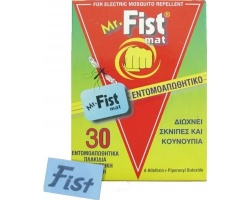 Mr FIST Εντομοαπωθητικά πλακίδια για ηλεκτρική συσκευή διώχνει σκνίπες & κουνούπια 30 πλακίδια