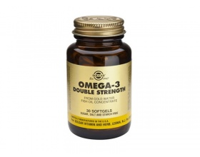 Solgar Omega-3 Double Strength Συμπλήρωμα διατροφής από έλαιο ψαριού 60 μαλακές κάψουλες