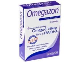 Health Aid Omegazon Ωμέγα 3 (750mg)-Ιχθυέλαιο 30 κάψουλες