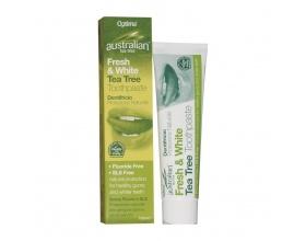 Optima Australian Organic Tea Tree Fresh & White Toothpaste  Φυσική προστασία, λευκά δόντια & καθαρή αναπνοή με έλαιο Τεϊόδεντρου 100ml