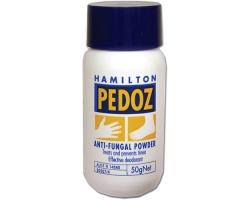 Hamilton Pedoz Anti - Fungal Powder Δερματική πούδρα για καταπολέμηση & πρόληψη της κακοσμίας του ιδρώτα & του κνησμού των ποδιών 50γρ