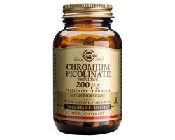 Solgar Chromium Picolinate 200mg tabs 90s Συμπλήρωμα διατροφής για τον έλεγχο του σακχάρου στο αίμα, σε περιπτώσεις έξης για λήψη γλυκών και για το μεταβολισμό του λίπους  90 κάψουλες