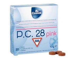 Cosval P.C. 28 Pink, Φυτικό Παυσίπονο για πόνους περιόδου & προεμμυνορησιακό σύνδρομο, εξισορροπεί τις ορμονικές αμφιταλαντεύσεις 20 ταμπλέτες