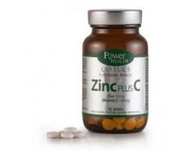 Power Health CLASSICS Platinum Range Zinc Plus C, ΣΥΜΠΛΗΡΩΜΑ ΔΙΑΤΡΟΦΗΣ με Ψευδάργυρο & Βιταμίνη C, για την Ενίσχυση του ανοσοποιητικού συστήματος, την Φυσιολογική γονιμότητα & αναπαραγωγή, και την Υγεία του προστάτη, 30 δισκία