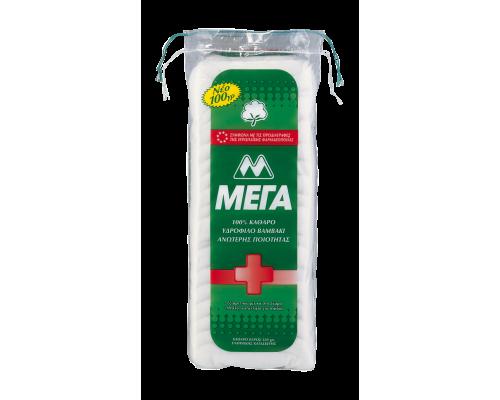MEGA Καθαρό βαμβάκι ανώτερης ποιότητας κατάλληλο για παιδιά 100 γρ