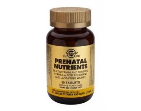 SOLGAR Prenatal Nutrients Συμπλήρωμα διατροφής σχεδιασμένη για να καλύπτει τις εξειδικευμένες ανάγκες των εγκύων και θηλάζουσων γυναικών  60 κάψουλες