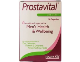 Health Aid Prostavital Συνδυασμός από Βιταμίνες, Μέταλλα & Saw Palmetto με Λυκοπένη για τον προστάτη 30 κάψουλες