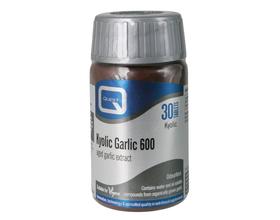 Quest Kyolic Garlic 600mg aged garlic extract , Για την υποστήριξη του καρδιαγγειακού και την έντονη ενίσχυση του ανοσοποιητικού, 30 ταμπλέτες