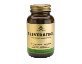 SOLGAR Resveratrol Συμπλήρωμα διατροφής με Ρεσβερατρόλη γνωστή για την προστατευτική της δράση στο καρδιαγγειακό σύστημα  60 κάψουλες