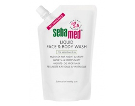 Sebamed Liquid Wash Refill Υγρό προσώπου και σώματος χωρίς με τιμή pH 5,5 του υγιούς δέρματος για τη διατήρηση της ισορροπίας της υγρασίας στο δέρμα 400ml
