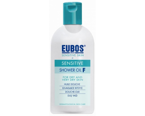 Eubos Sensitive Shower Oil F Ελαιώδες ντους καθαρισμού σώματος, κατάλληλο για το ευαίσθητο και ξηρό δέρμα  200 ml