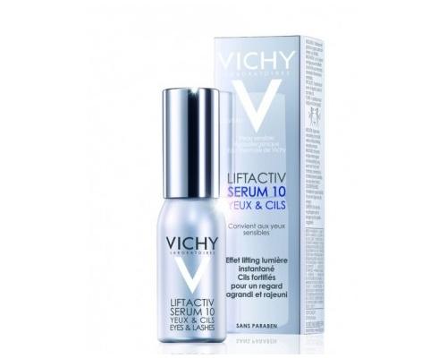 Vichy Liftactiv Serum 10 Μάτια & Βλεφαρίδες Ιδανικό για την ευαίσθητη περιοχή γύρω από τα μάτια 15ml