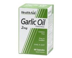 Health Aid Garlic oil 2mg - Άοσμο υψηλής ισχύος έλαιο σκόρδου 30 κάψουλες