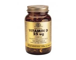SOLGAR Vitamin D3 1000 IU (25μg) , συμπλήρωμα διατροφής για την καλή υγεία των οστών, του νευρικού συστήματος και για την προστασία του ανθρώπινου οργανισμού από αυτοάνοσα νοσήματα και καρδιοπάθειες 100 softgels