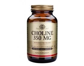 SOLGAR Choline 350mg 100 caps, Μειώνει το υπερβολικό λίπος στο ήπαρ, βοηθάει στην παραγωγή ορμονών και είναι απαραίτητη στο μεταβολισμό των λιπών και της χοληστερίνης