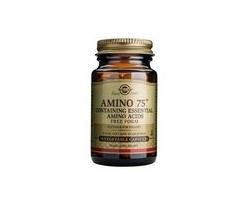 Solgar Amino 75,30caps: Φόρμουλα αμινοξέων που περιλαμβάνει βασικά αμινοξέα, απαραίτητα για την υγεία του οργανισμού, τα οποία δεν παρασκευάζονται από τον οργανισμό & πρέπει να λαμβάνονται από τη διατροφή