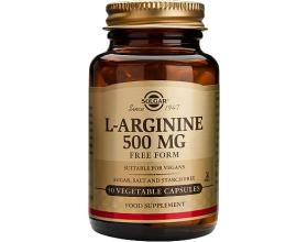 SOLGAR L-Arginine 500mg 50caps, Αμινοξύ που συμβάλλει στην αύξηση της σύνθεση του κολλαγόνου & δρα θετικά στην ανδρική στύση & τη φυσική τόνωση της σεξουαλικής επιθυμίας και απόδοσης