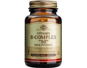 SOLGAR Formula B-Complex 50 Συμπλήρωμα διατροφής που περιλαμβάνει όλες τις βασικές βιταμίνες Β καθώς & τις μη βασικές χολίνη, βιοτίνη και ινοσιτόλη 50  φυτοκάψουλες