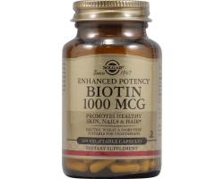 Solgar Biotin 1000mg veg.caps,Ενισχυμένη περιεκτικότητα - Μεταβολικές διεργασίες - Ενίσχυση μαλλιών, δέρματος & βλενογόννων 50s