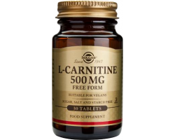 SOLGAR L-CARNITINE 500mg Kαρνιτίνη επαυξάνει την μετατροπή των λιπαρών οξέων 30 ταμπλέτες