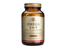 Solgar Omega 3-6-9 Συμπλήρωμα διατροφής Λιπαρά οξέα υψηλής βιολογικής αξίας για την κυτταρική προστασία,την υγεία του εγκεφάλου και του καρδιαγγειακού συστήματος 60 μαλακές κάψουλες