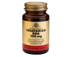 Solgar Vegetarian DHA 100mg Συμπλήρωμα Διατροφής για το Νευρικό και ανοσοποιητικό σύστημα 30 μαλακές κάψουλες