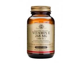 SOLGAR VITAMIN E 268mg 400IU Συμπλήρωμα διατροφής με βιταμίνη Ε με ισχυρή αντιοξειδωτική δράση 100 μαλακές κάψουλες