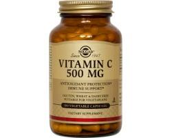 SOLGAR Vitamin C 500mg 100caps,  Ενισχύει την υγεία του οργανισμού και εχει αντιοξειδωτική & αντιφλεγμονώδη δράση