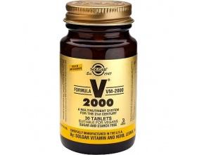 SOLGAR FORMULA VM 2000 Υψηλής ισχύος με αμινοξέα,πεπτικά ένζυμα, σούπερ τροφές,βιοφλαβονοειδή 30 ταμπλέτες