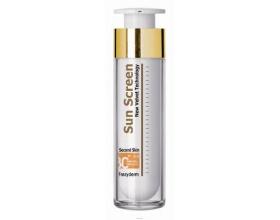 Frezyderm SUN SCREEN Velvet Second Skin Face, Αντιηλιακή κρέμα προσώπου με δείκτη spf 30+ για όλους τους τύπους δέρματος 50ml