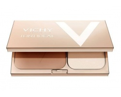 Vichy Teint Ideal Illuminating Foundation Powder Compact 3 Tan , Φυσικό αποτέλεσμα με SPF 25 9.5gr