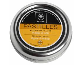 APIVITA Pastilles, Παστίλιες για το λαιμό, μαλακώνουν το λαιμό και το βήχα με  θυμάρι & μέλι 45g