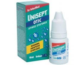 UNISEPT OTIC EAR DROP , Ωτικές σταγόνες για την αφαίρεση της κυψελίδας,10ml