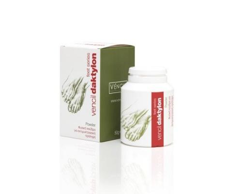 Vencil, Daktylon Powder, Φυσική Πούδρα για Αντιμυκητιασική Πρόληψη, με Αντιφλογιστική, Αποσμητική & Απορροφητική Δράση, 50 gr