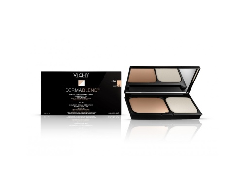 Vichy Dermablend Compact Cream Foundation Nude 25, Make-Up που προσφέρει υψηλή κάλυψη και μεγάλη διάρκεια 9,5g
