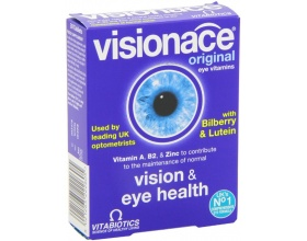 VITABIOTICS Visionace Original Συμπλήρωμα διατροφής εξειδικευμένη σύνθεση θρεπτικών συστατικών με αποδεδειγμένη ωφέλιμη δράση στην υγεία των ματιών 30 ταμπλέτες