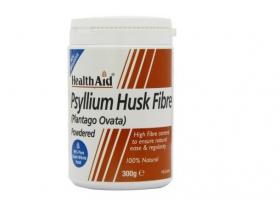 Health Aid Psyllium Husk Powder  Ψύλλιο, πεπτικές ίνες με ευεργετική δράση, Φυσικό υπακτικό που δημιουργεί διόγκωση & έχει υψηλή περιεκτικότητα σε ίνες & σε κολλοειδή 300 γραμμάρια σκόνης