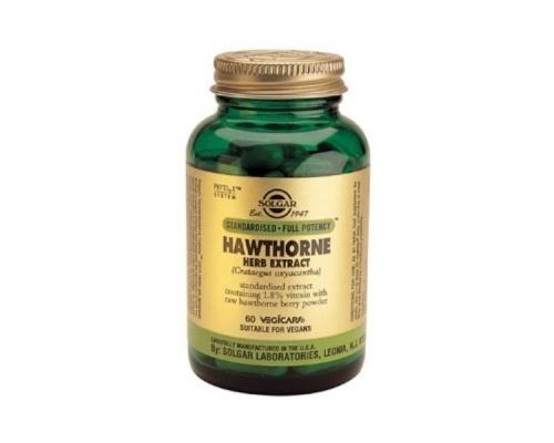 Solgar SFP Hawthorn Herb Extract, Για την καρδιαγγειακή υγεία, Έχει αγγειοδιασταλτική δράση & τονωτική επίδραση στα τοιχώματα των αιμοφόρων αγγείων, 60caps