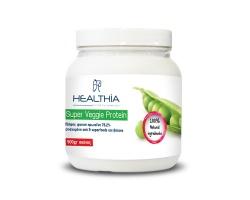 Healthia Super Veggie Protein σκόνη  φυτική πρωτεΐνη από αρακά ποικιλίας sugar snap 500gr